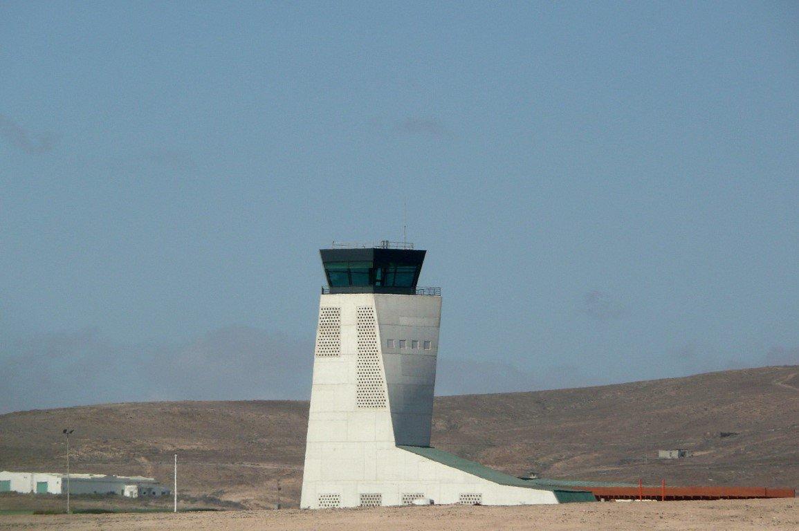 Control tower in Fuerteventura Airport 19952