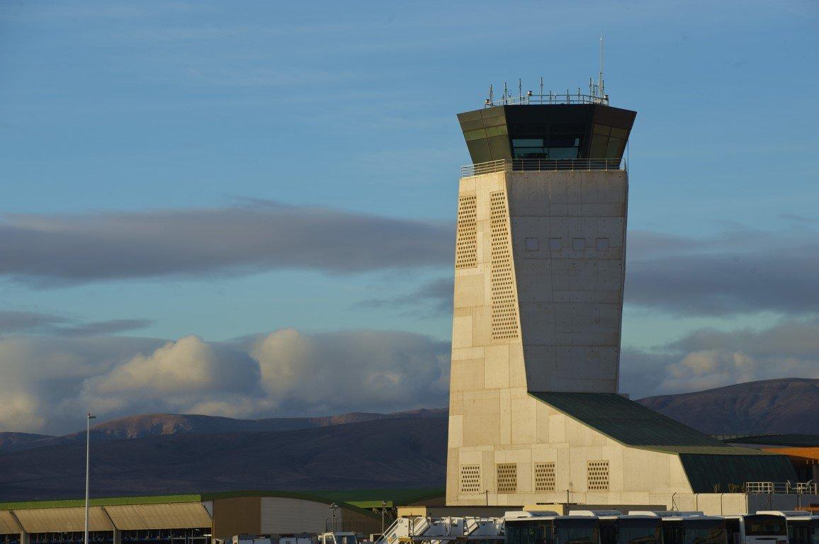 Control tower in Fuerteventura Airport 19956