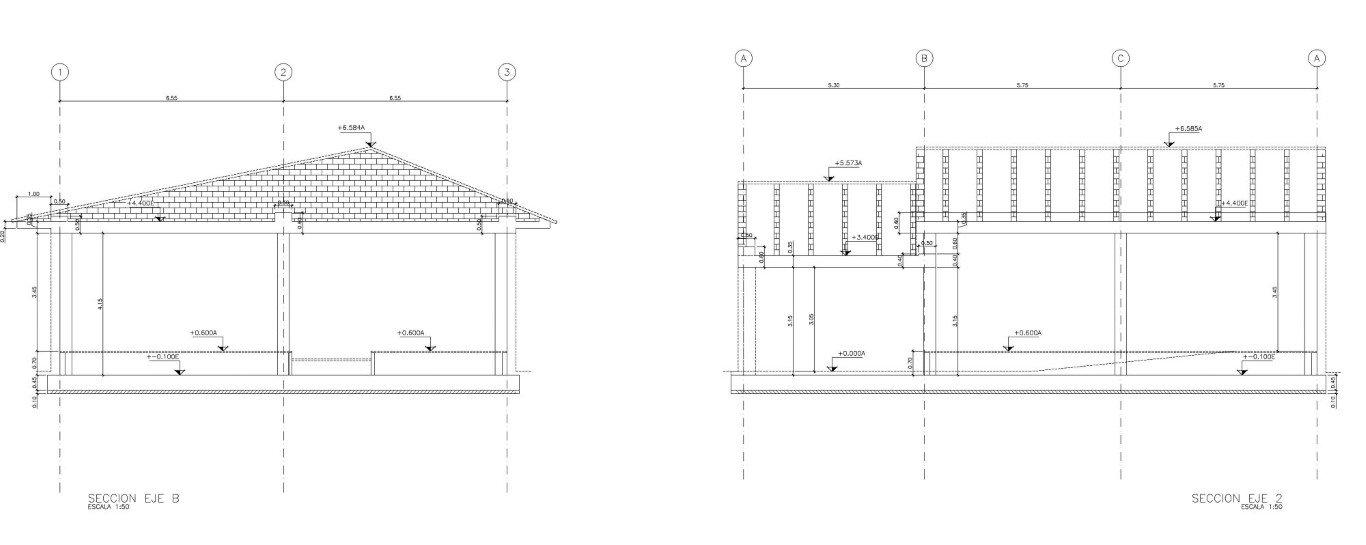 Two buildings for the new radio center in Sierra de Loja 20124